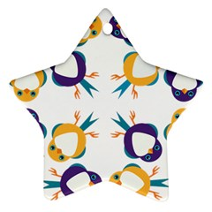 Pattern Circular Birds Star Ornament (two Sides) by Sapixe
