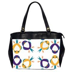Pattern Circular Birds Office Handbags (2 Sides)  by Sapixe