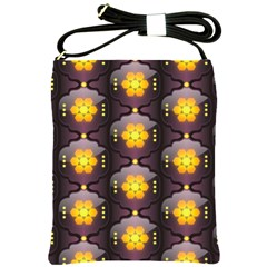 Pattern Background Yellow Bright Shoulder Sling Bags by Sapixe