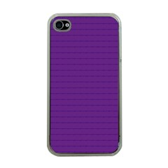 Pattern Violet Purple Background Apple Iphone 4 Case (clear) by Sapixe