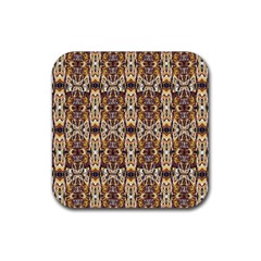Artwork By Patrick Pattern 36 Rubber Coaster (square)  by ArtworkByPatrick