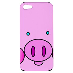 Pink Pig Christmas Xmas Stuffed Animal Apple Iphone 5 Hardshell Case by Sapixe
