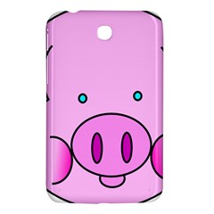 Pink Pig Christmas Xmas Stuffed Animal Samsung Galaxy Tab 3 (7 ) P3200 Hardshell Case  by Sapixe