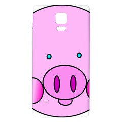 Pink Pig Christmas Xmas Stuffed Animal Galaxy Note 4 Back Case by Sapixe