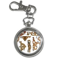 Pattern Motif Decor Key Chain Watches