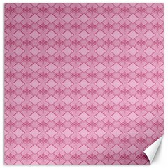 Pattern Pink Grid Pattern Canvas 16  X 16   by Sapixe