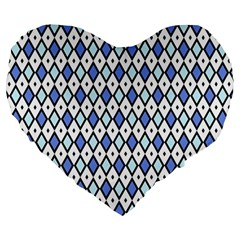 Blue Jess Large 19  Premium Heart Shape Cushions by jumpercat