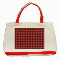 Red Triangulate Classic Tote Bag (red)