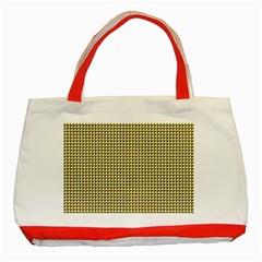 Ocre Triangulate Classic Tote Bag (red)