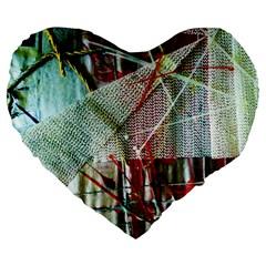 Hidden Strings Of Urity 10 Large 19  Premium Flano Heart Shape Cushions by bestdesignintheworld