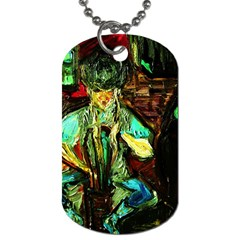 Girl In A Bar Dog Tag (one Side)