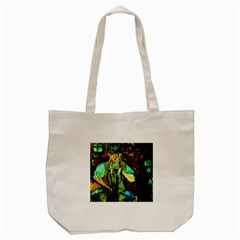 Girl In A Bar Tote Bag (cream)
