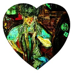 Girl In A Bar Jigsaw Puzzle (heart)