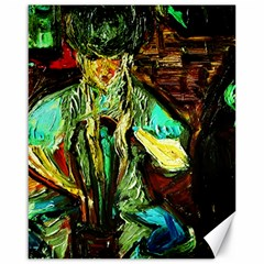Girl In A Bar Canvas 16  X 20