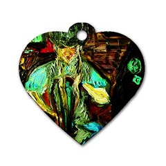 Girl In A Bar Dog Tag Heart (one Side) by bestdesignintheworld