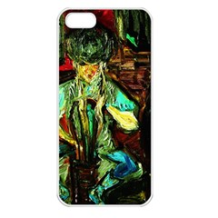 Girl In A Bar Apple Iphone 5 Seamless Case (white)