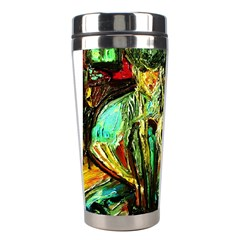 Girl In A Bar Stainless Steel Travel Tumblers by bestdesignintheworld
