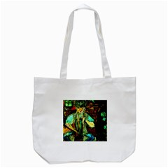 Girl In A Bar Tote Bag (white)