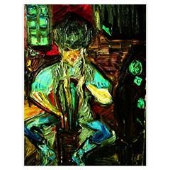 Girl In A Bar Drawstring Bag (large)
