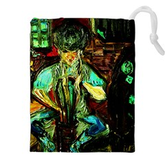 Girl In A Bar Drawstring Pouches (xxl)