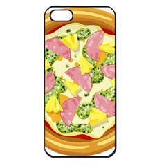 Pizza Clip Art Apple Iphone 5 Seamless Case (black) by Sapixe