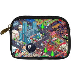 Pixel Art City Digital Camera Cases by Sapixe