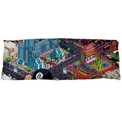 Pixel Art City Body Pillow Case (dakimakura) by Sapixe