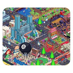 Pixel Art City Double Sided Flano Blanket (small)  by Sapixe