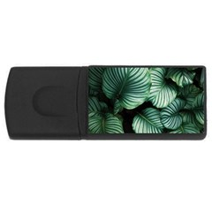 Tropical Florals Rectangular Usb Flash Drive by goljakoff