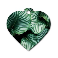 Tropical Florals Dog Tag Heart (one Side) by goljakoff