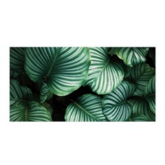 Tropical Florals Satin Wrap by goljakoff