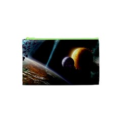 Planets In Space Cosmetic Bag (xs)