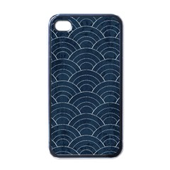 Japan Sashiko Navy Ornament Apple Iphone 4 Case (black) by goljakoff