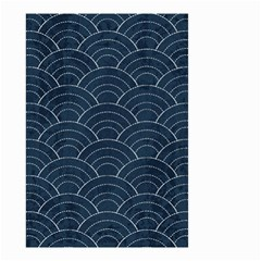 Japan Sashiko Navy Ornament Small Garden Flag (two Sides) by goljakoff