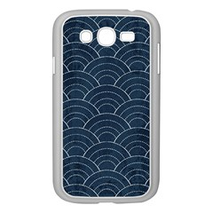 Japan Sashiko Navy Ornament Samsung Galaxy Grand Duos I9082 Case (white) by goljakoff
