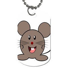 Raton Mouse Christmas Xmas Stuffed Animal Dog Tag (one Side) by Sapixe