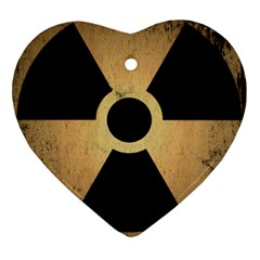 Radioactive Warning Signs Hazard Heart Ornament (two Sides) by Sapixe