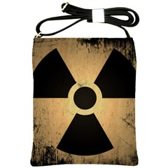 Radioactive Warning Signs Hazard Shoulder Sling Bags by Sapixe