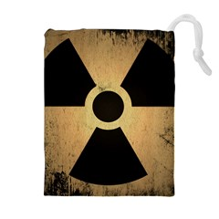 Radioactive Warning Signs Hazard Drawstring Pouches (extra Large) by Sapixe