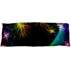 Rainbow Fireworks Celebration Colorful Abstract Body Pillow Case Dakimakura (two Sides) by Sapixe