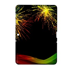 Rainbow Fireworks Celebration Colorful Abstract Samsung Galaxy Tab 2 (10 1 ) P5100 Hardshell Case  by Sapixe
