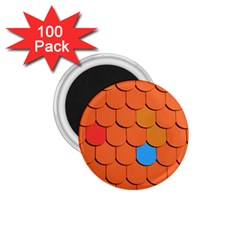 Roof Brick Colorful Red Roofing 1 75  Magnets (100 Pack)  by Sapixe