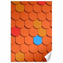 Roof Brick Colorful Red Roofing Canvas 20  X 30   by Sapixe