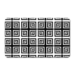 Seamless Pattern Background Black And White Magnet (rectangular) by Sapixe