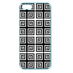 Seamless Pattern Background Black And White Apple Seamless Iphone 5 Case (color) by Sapixe