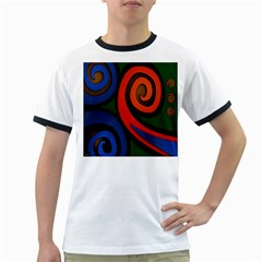 Simple Batik Patterns Ringer T Shirts by Sapixe
