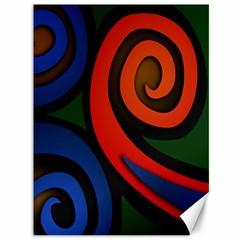 Simple Batik Patterns Canvas 36  X 48   by Sapixe