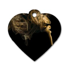 Smoke Fume Smolder Cigarette Air Dog Tag Heart (two Sides) by Sapixe