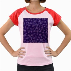 Snowflakes Pattern Women s Cap Sleeve T Shirt by Sapixe