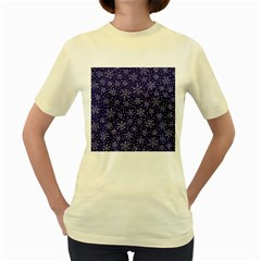 Snowflakes Pattern Women s Yellow T Shirt by Sapixe